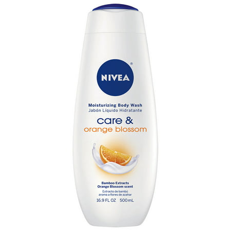 (2 Pack) NIVEA Care and Orange Blossom Moisturizing Body Wash 16.9 fl. oz.