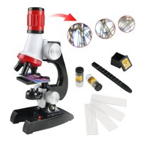 Smartasin Microscope Beginner Microscope Kit Science Kits for Kids -LED 100X, 400x, and 1200x Magnification, Great Gifts Educational Toys for Kids