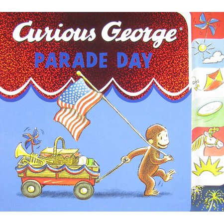 Curious George Parade Day tabbed board book (Love At The Thanksgiving Day Parade Cast)
