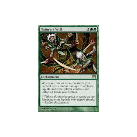 - Nature's Will - Champions of Kamigawa, A single individual card from the Magic: the Gathering (MTG) trading and collectible card game (TCG/CCG). By Magic: the Gathering