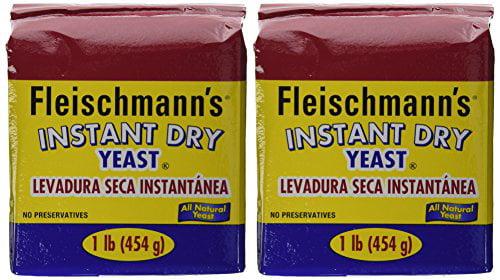 Fleischmann's Instant Yeast 2 16 oz. bags by