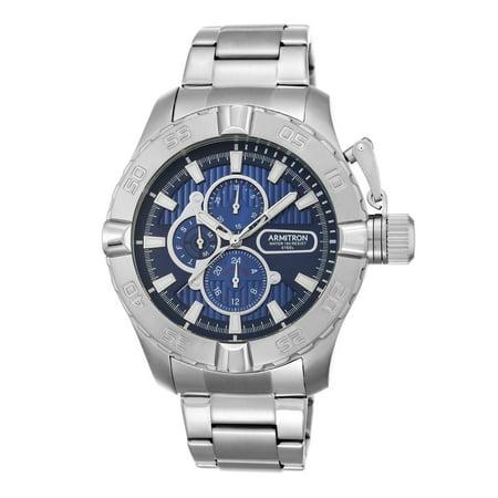 Armitron Men's Round Dress Watch, Silver Bracelet