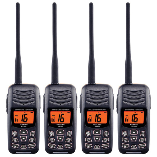 Standard Horizon HX300 (4 Pack) Floating Handheld VHF by Standard Horizon