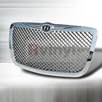 Chrsyler 300 300C 2005 2006 2007 2008 2009 2010 Mesh Grille Bentley Style - Chrome Bentley Style Mesh Grille