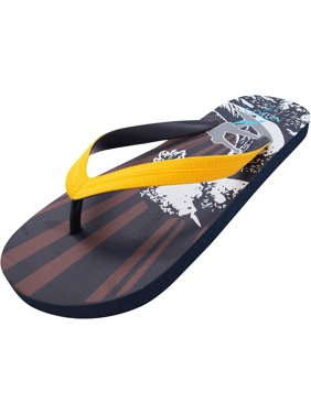 279956615938b Product Image Norty Mens Graphic Print Flip Flop Thong Sandal for Beach