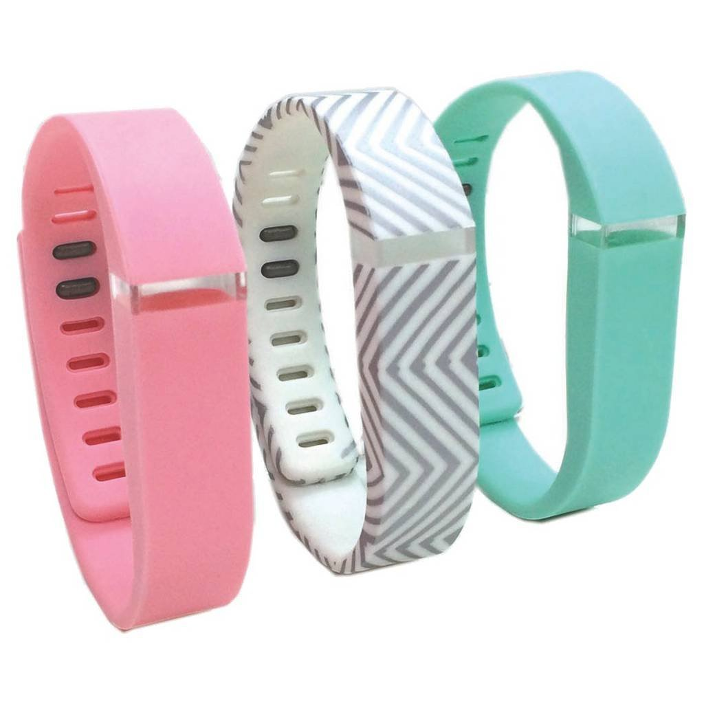 Buddie 3 Pack Fashion Activity Large Tracker Bands - Pink/Gray/Teal (1800-1002L) By Smart