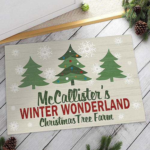 Personalized Winter Wonderland Doormat