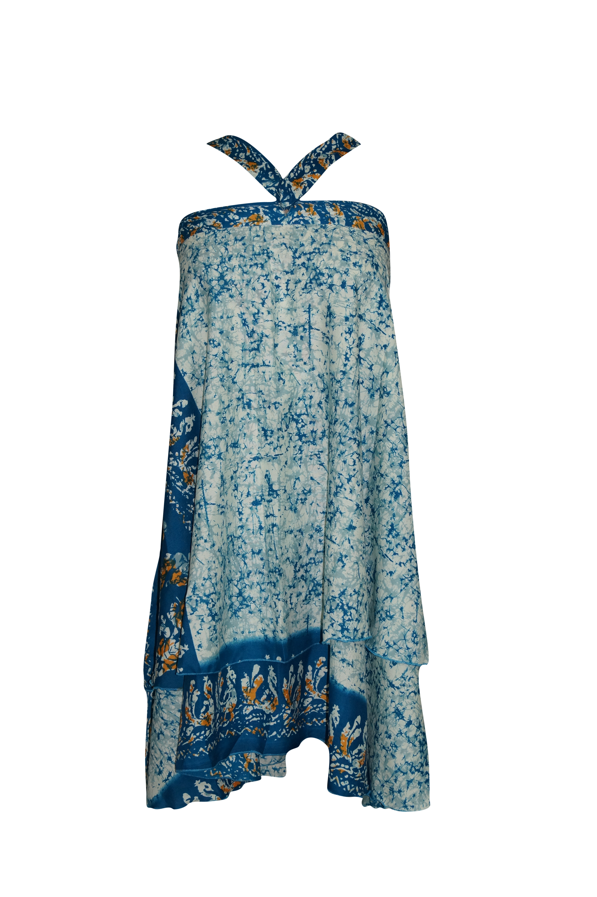 Multi Tiered Recycled Sari Festy Dresses Indian Decor