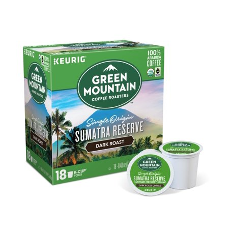 Keurig K-Cups, Green Mountain Sumatran Reserve Coffee, 18 ct