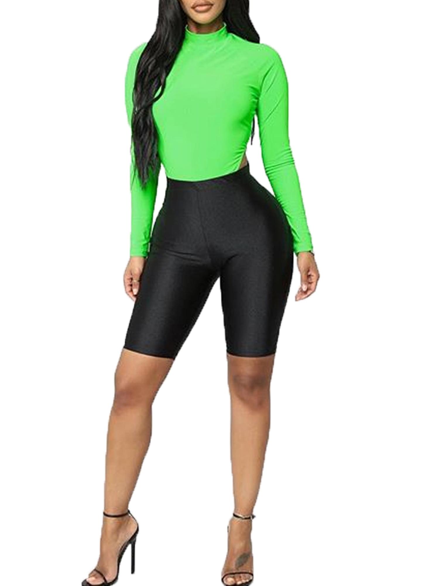 Womens Stretch Biker Bike Shorts Workout Spandex Leggings Pants Knee I6X3