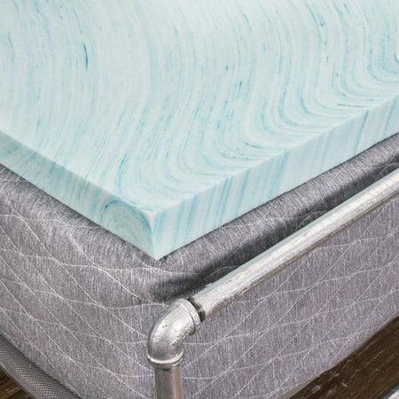 Dreamfoam 2 Gel Swirl Memory Foam Topper Made In Usa Twin Xl