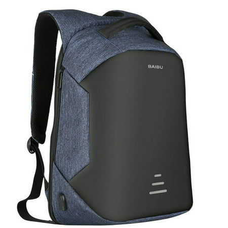 Men Waterproof Backpack Anti-theft External USB Charge Laptop Backpack - External Internal Frame Backpacks