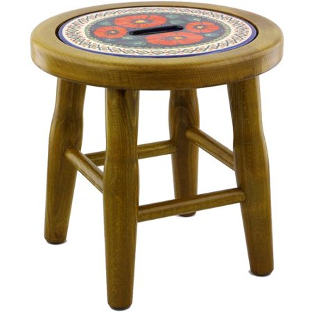 Polmedia Polish Pottery Accent Stool ()