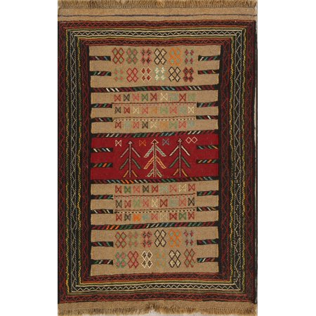 af64a1d78aa3 RugSelect Traditional Flat-weave Tribal 4x6 Kilim Handmade Oriental ...