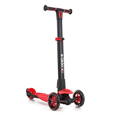 Yvolution Glider Deluxe Adjustable 3 Wheeled Scooter XL Kids Age 3 to 8, (Y Glider 100198 Xl Deluxe Ride On)