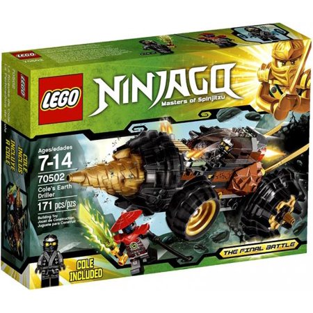 lego ninjago cole earth driller play set