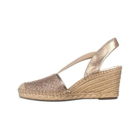 2504433a78d Anne Klein Aneesa Espadrille Wedge Sandals, Rose Gold   Walmart Canada