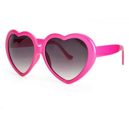 Vintage Retro Fashion Lolita Heart Shaped Aviator Black Frame Women Sunglasses (White Frame Aviators)