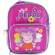 """Peppa Pig with Friends Pink 10"""" Mini Backpack for Girls"""