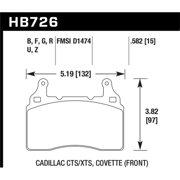 Hawk 2014 Chevrolet Corvette PC Front Brake Pads