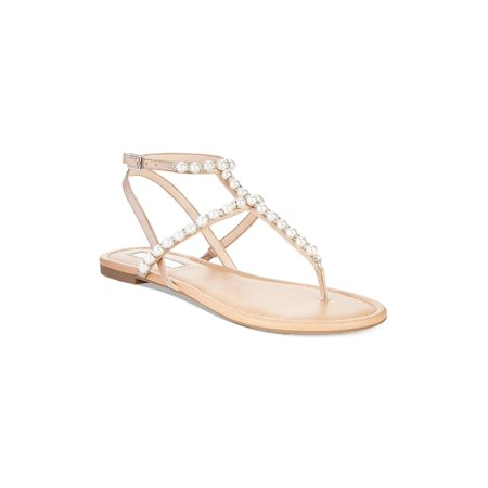 Inc International Concepts Womens Madigane Fabric Open Toe Casual T-Strap San... (Inc International Concepts Heels)