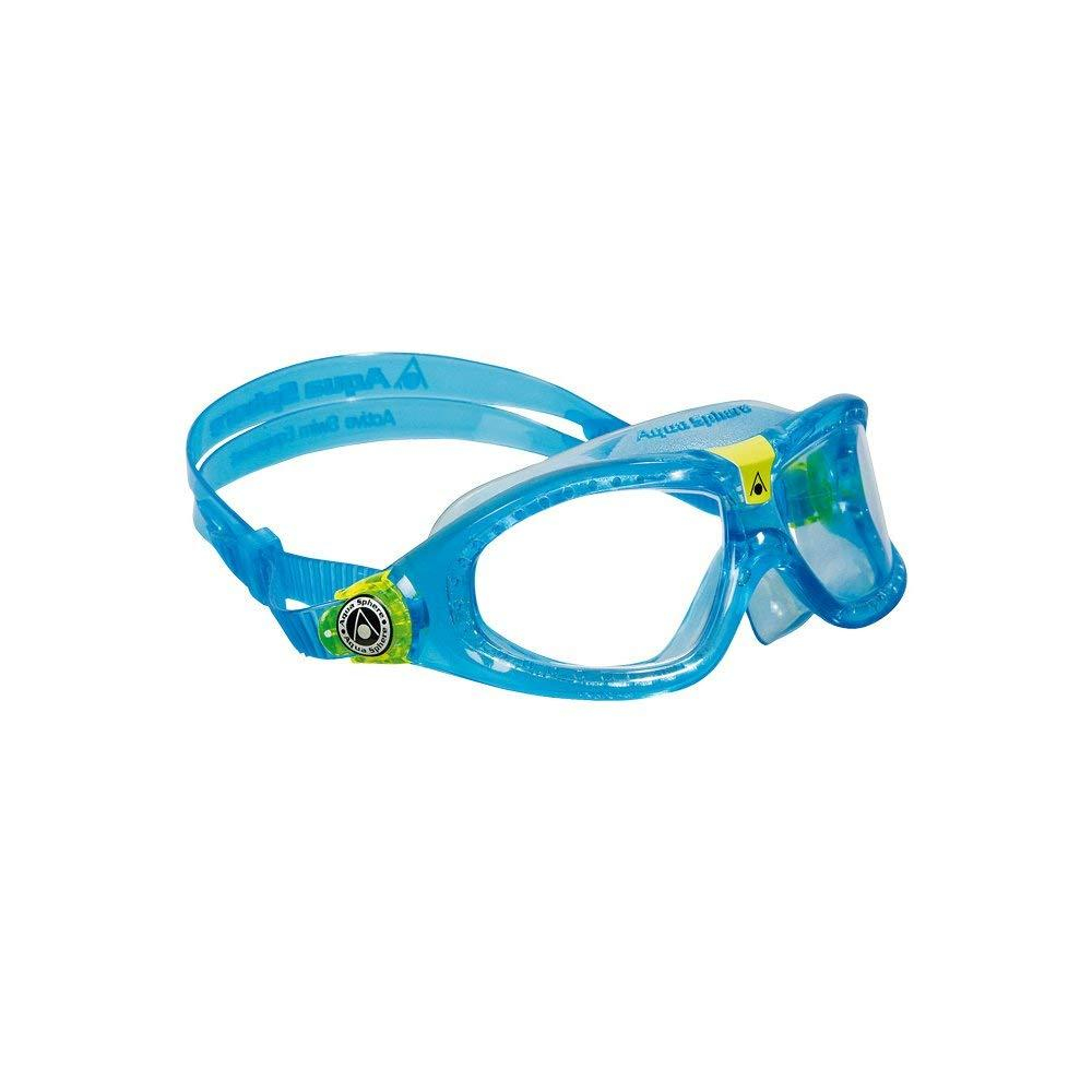 Seal 2.0 Kids Goggle Blue Lens Transparent-Lime By Aqua Sphere by