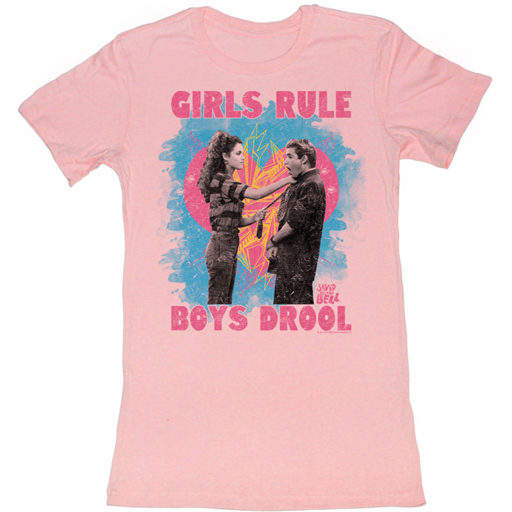 Saved By The Bell  Girls Rule Girls Jr Pink