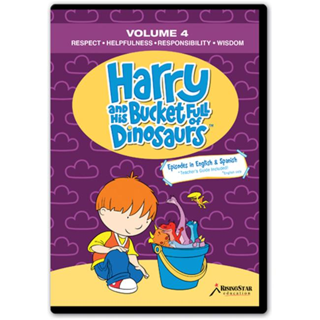 Rising Star Education HBD004 Harry & His Bucket Full of Dinosaurs- Vol.  4 - Respect- Helpfulness- Responsibility-
