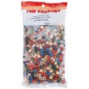 Pony Beads 6mmX9mm 900/Pkg-Americana Multicolor