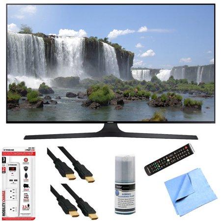 samsung un55j6300 55 inch full hd 1080p 120hz smart led hdtv plus hook up bundle includes 55. Black Bedroom Furniture Sets. Home Design Ideas