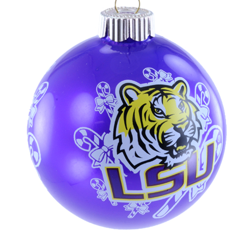 LSU Tigers Official NCAA 3 inch  Glass Ball Christmas Ornament by Topperscot
