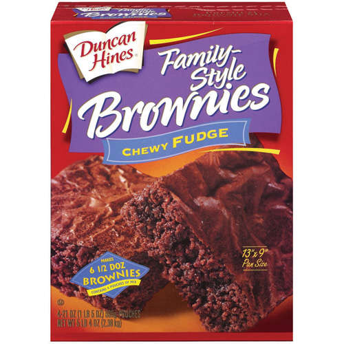 Duncan Hines�� Chewy Fudge Brownie Mix 4-19.9 oz. Pouches