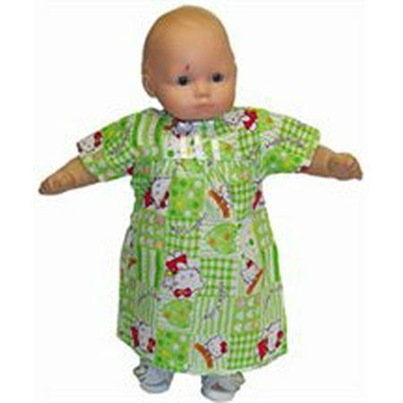 Baby Doll Green Kitty Print