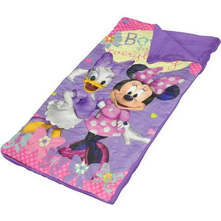 Disney Minnie Mouse Slumber Bag with BONUS Sling Bag