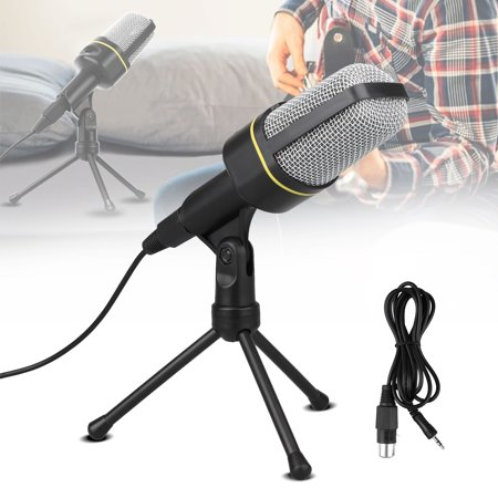 Studio Microphone, TSV Condenser Studio Microphone, Vocal Recording Computer Microphone w/Tripod Stand for Youtube PC Laptop Tablet and