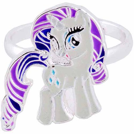 Silver-Plated Brass Rarity My Little Pony Adjustable Ring