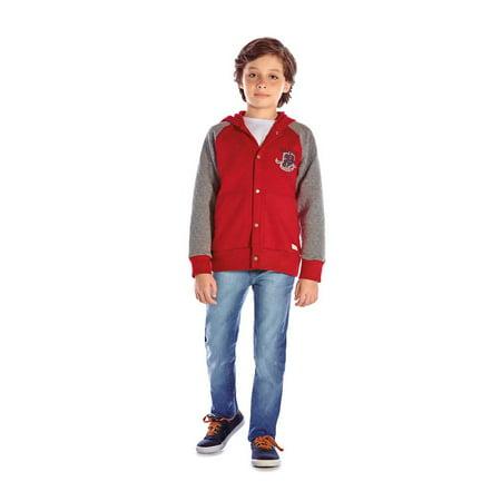 Pulla Bulla - Boys Hoodie Jacket Button-Up Kids Winter ...