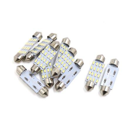 Car Auto Interior Dome - 10pcs White 12 LEDs 4014 SMD 41mm Auto Car Festoon Bulb Interior Dome Map Light