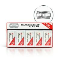 Dorco ST301 Platinum Extra Double Edge Razor Blades 100 Ct