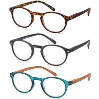 ec006039f6 Product Image GAMMA RAY READERS Multiple Pairs of P3 Style Retro Round  Readers Quality Spring Hinge Reading Glasses