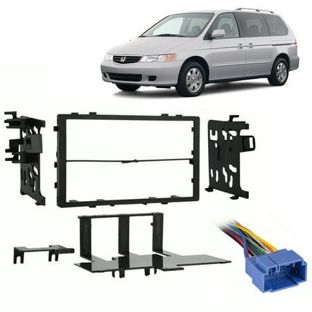 - Fits Honda Odyssey 1999-2004 Double DIN Stereo Harness Radio Install Dash Kit