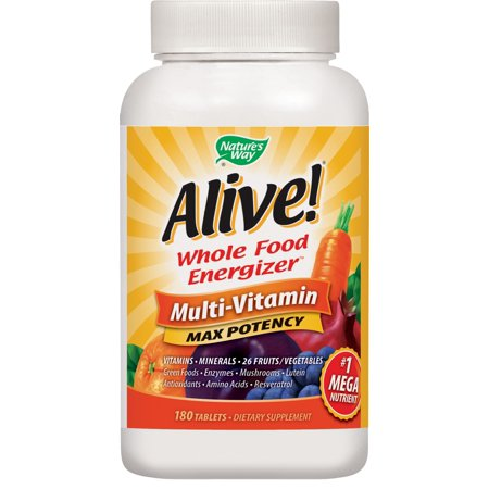 Natures Way Alive! Max3 Daily Multivitamin Energizer Supplement 180 Tablets (Womens Multiple 180 Tablets)