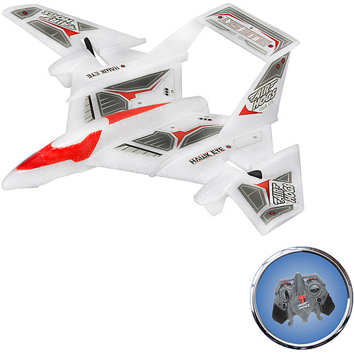 Air Hogs Radio-Controlled Hawk Eye Blue Sky Plane, White