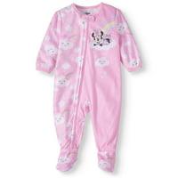 Minnie Mouse Baby Girl Microfleece Blanket Sleeper Pajamas