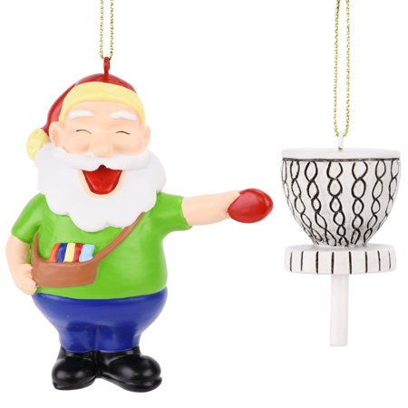 Tree Buddees Santa Frisbee Disc Golf Christmas Ornament 2 Piece Set