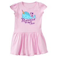 Cute Narwhal I'm a Unicorn of The Sea Toddler Dress