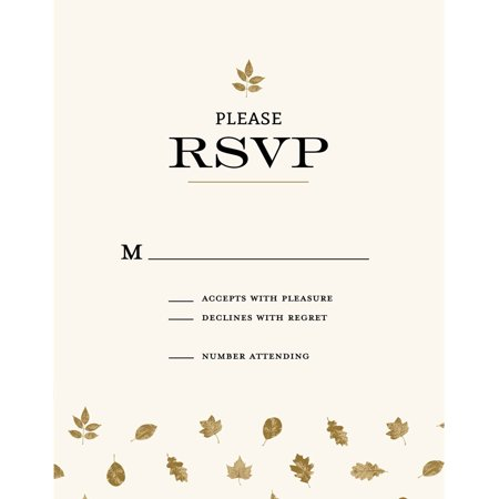 Autumn Leaves Standard RSVP