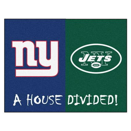 "NFL - Giants - Jets House Divided Rug 33.75""x42.5"""
