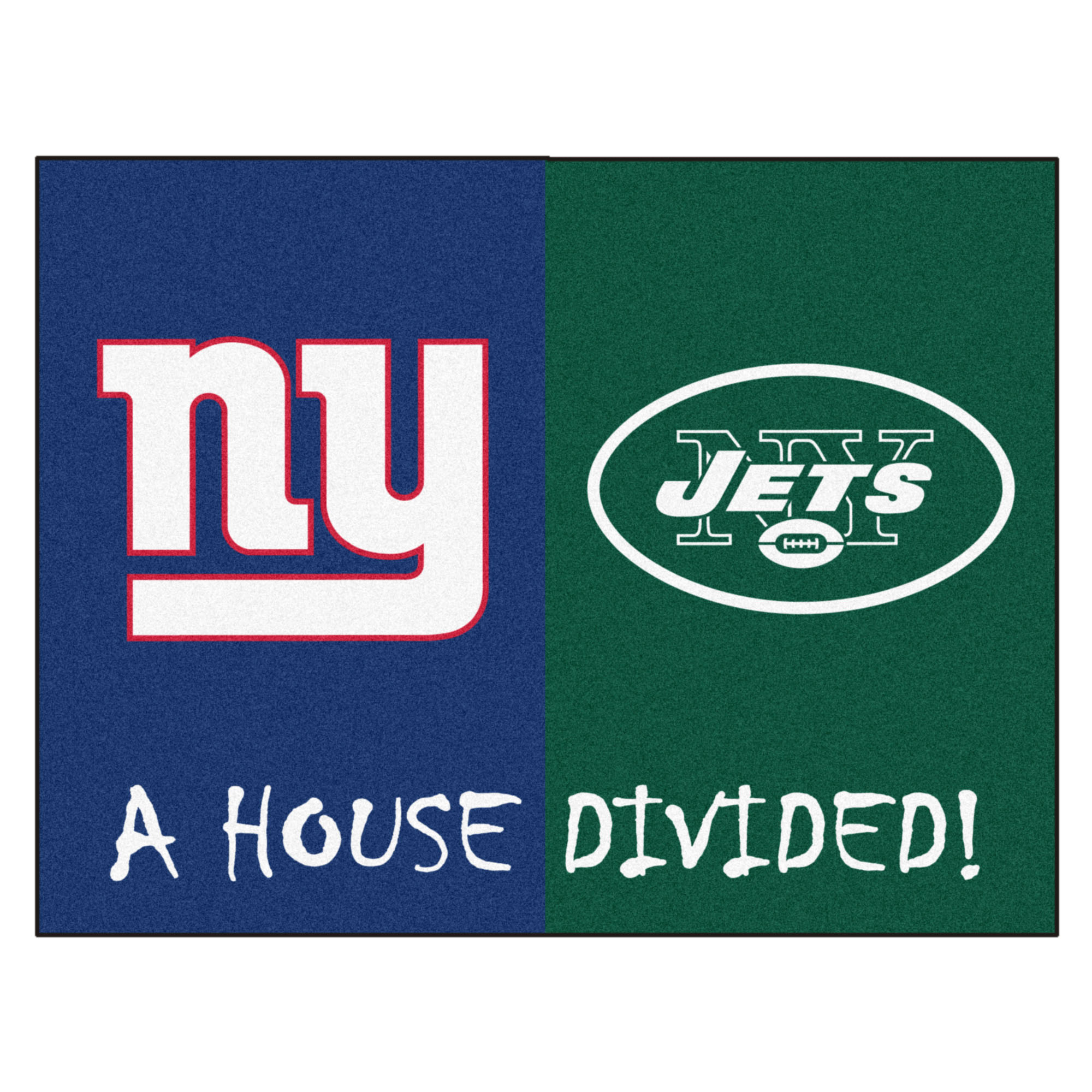 "NFL - Giants - Jets House Divided Rug 33.75""x42.5"""