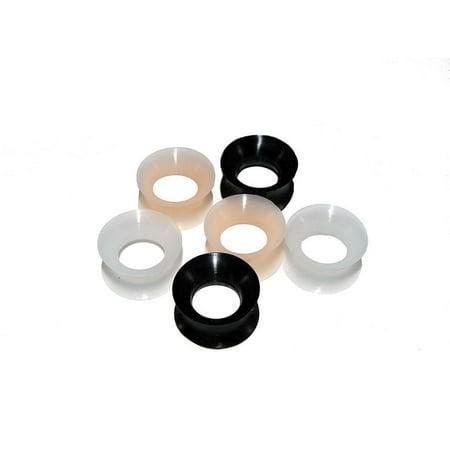 Flesh Tunnel Earring Ear Plug - Flesh Tunnels Thin Silicone 2G-1/2